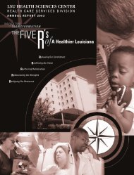 THEFIVER - LSU Health Care Services Division