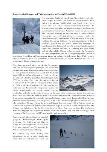 Tiefschnee- und Skitourentrainings im Pitztal zu Ostern 2012