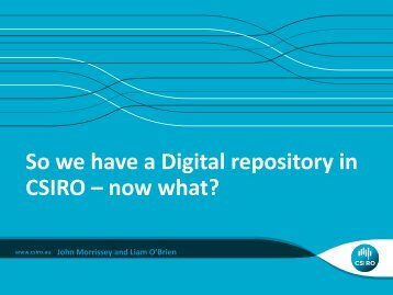 CSIRO IM&T- Research Data Service - eResearch Australasia ...