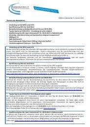 SSB Bonn-Newsletter 6 / Januar 2013 - Stadtsportbund Bonn eV