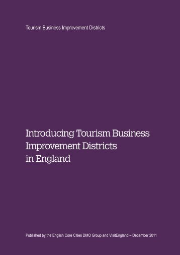 Introducing Tourism Business Improvement Districts ... - VisitEngland