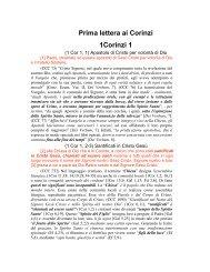 Prima Lettera ai Corinzi, da 1 a 8