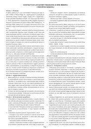 contratto di locazione finanziaria di beni immobili condizioni generali