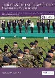 EUROPEAN DEFENCE CAPABILITIES - RUSI