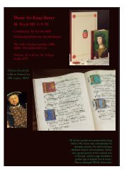 Music for King Henry VIII. BL Royal MS 11 E XI. Commentary ... - Omi