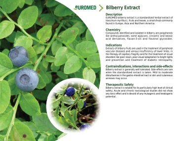 Bilberry Extract - Euromed