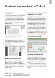 Korrekturen im Acrobat Reader ab Version X - text plus form