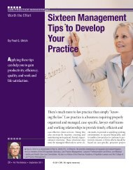 Sixteen Management Tips to Develop Your ... - State Bar of Arizona