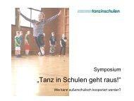 Tanz in Schulen geht raus! - Ruhr-Universität Bochum