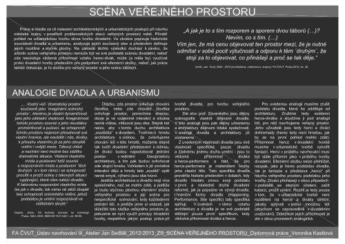 Veronika Kastlová - portfolio - ČVUT v Praze, Fakulta architektury