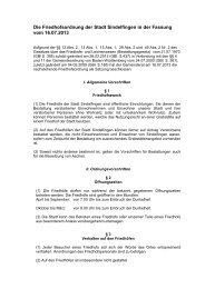 Friedhofsordnung (PDF) - bei der Stadt Sindelfingen
