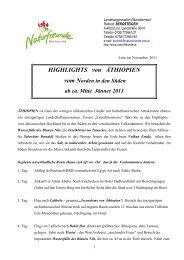 HIGHLIGHTS von ÄTHIOPIEN - Naturfreunde