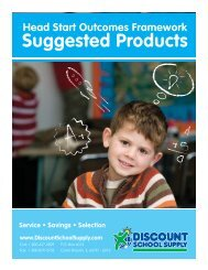Head Start Child Outcomes Framework Suggested Products