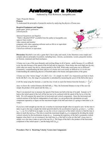 Anatomy of a Homer - Pablo's Physics