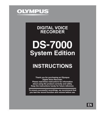 DS-7000_SE Instruction Manual - Professional Dictation and ...