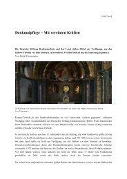 Denkmalpflege Türnich - Rheinischer Verein