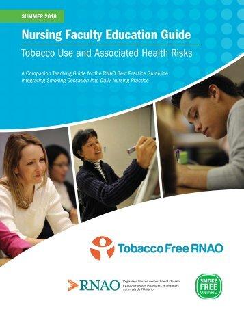 Nursing Faculty Education Guide - Tobacco Free RNAO