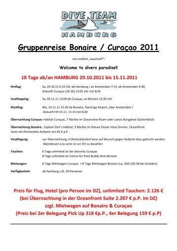 Gruppenreise Bonaire / Curaçao 2011 - dive team Hamburg