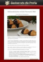 Kokosmakrönchen mit dem Thermomix TM31 - Backen wie die Profis