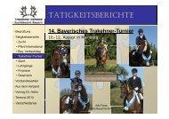 TÄTIGKEITSBERICHTE - Trakehner in Bayern