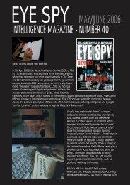 intelligence magazine - number 40 may/june 2006 - Eye Spy ...