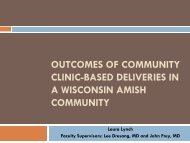 Outcomes of Community Clinic-Based Deliveries in a Wisconsin ...