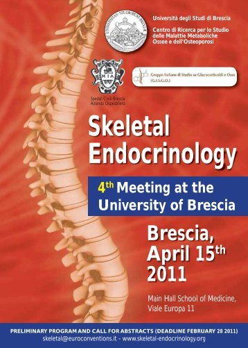 Skeletal Endocrinology Brescia, April 15th 2011 - Farmacol.bs.it