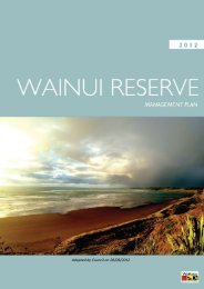 Wainui Reserve Management Plan - Waikato District Council