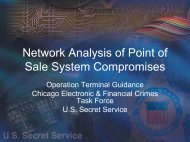 Network Analysis of Point of Sale System Compromises - Cert
