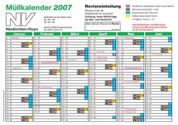 Abfuhrkalender2007_N.. - Städtereinigung Gerke