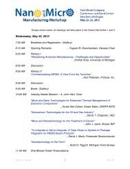 Wednesday, May 22, 2013 - Nano and Micro Manufacturing Workshop
