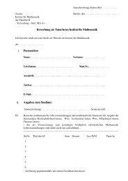 Bewerbung als Tutor/in im Institut für Mathematik ... - TU Berlin
