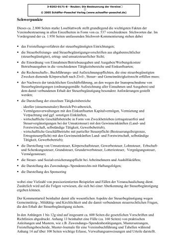 Schwerpunkte - Schäffer-Poeschel Verlag GmbH