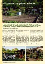 Ausspannen im grünen Zuhause - Birseck Magazin