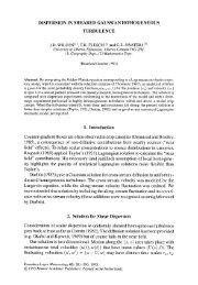 Dispersion in sheared Gaussian homogeneous turbulence