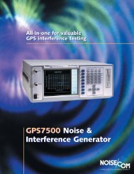 GPS7500 Noise & Interference Generator GPS7500 Noise ...