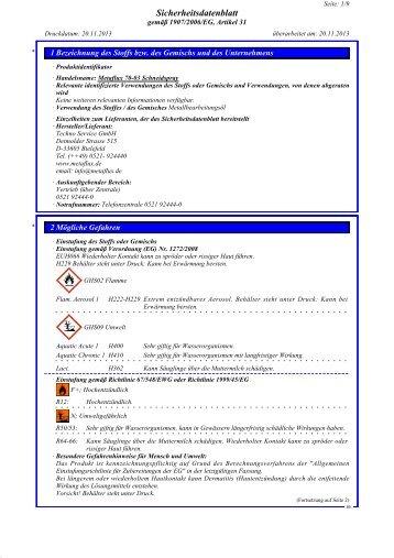 Metaflux 70-03 Schneid-Spray SDB
