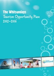 The Whitsundays Tourism Opportunity Plan - Tourism Queensland