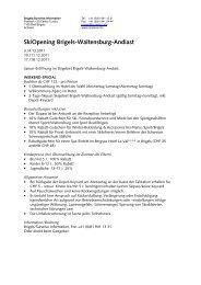 SkiOpening Brigels-Waltensburg-Andiast - Surselva Info