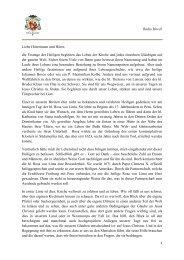 Ansprache von Erzbischof Dr. Zollitsch - Radio Horeb