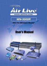 AirLive WN-5000R User's Manual