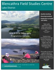 AQA B GCSE Geography - Field Studies Council