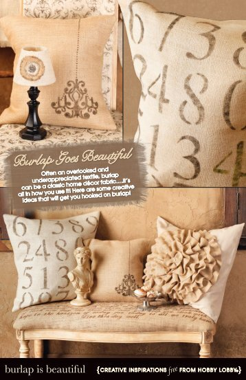 Burlap Goes Beautiful - Hobby Lobby