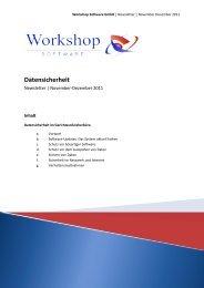 Datensicherheit - Workshop Software GmbH