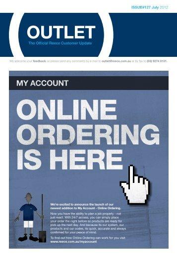 my account online ordering is here - Reece