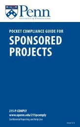 Pocket Compliance Guide for Sponsored Projects - University of ...