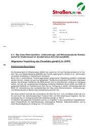 Entscheidung vom 05.12.2012 - Straßen.NRW