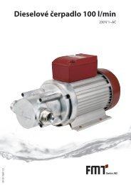 Návod k použití dieselové čerpadlo 100 l/min - FMT Swiss AG
