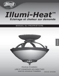 Illumi-Heat™ Éclairage et chaleur sur demande - Hunter Fan