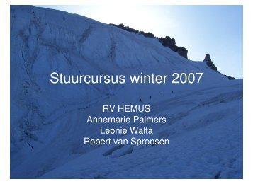 Stuurcursus winter 2007 - Hemus